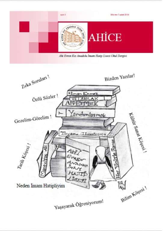 Ahice Dergi-Sayı 1 Kapak