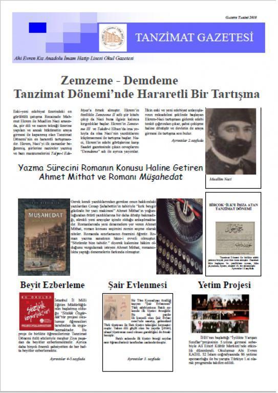 Gazete-Sayı 1 Kapak