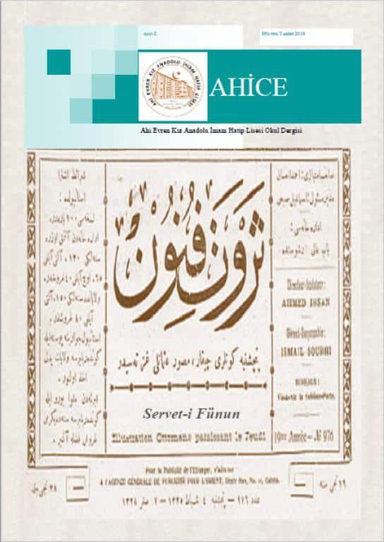 Ahice Dergi-Sayı 2Kapak